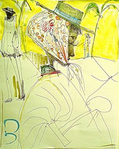 Kai Althoff. A New Drawing, 2011. Read his interview @ MOUSSE CONTEMPORARY ART MAGAZINE