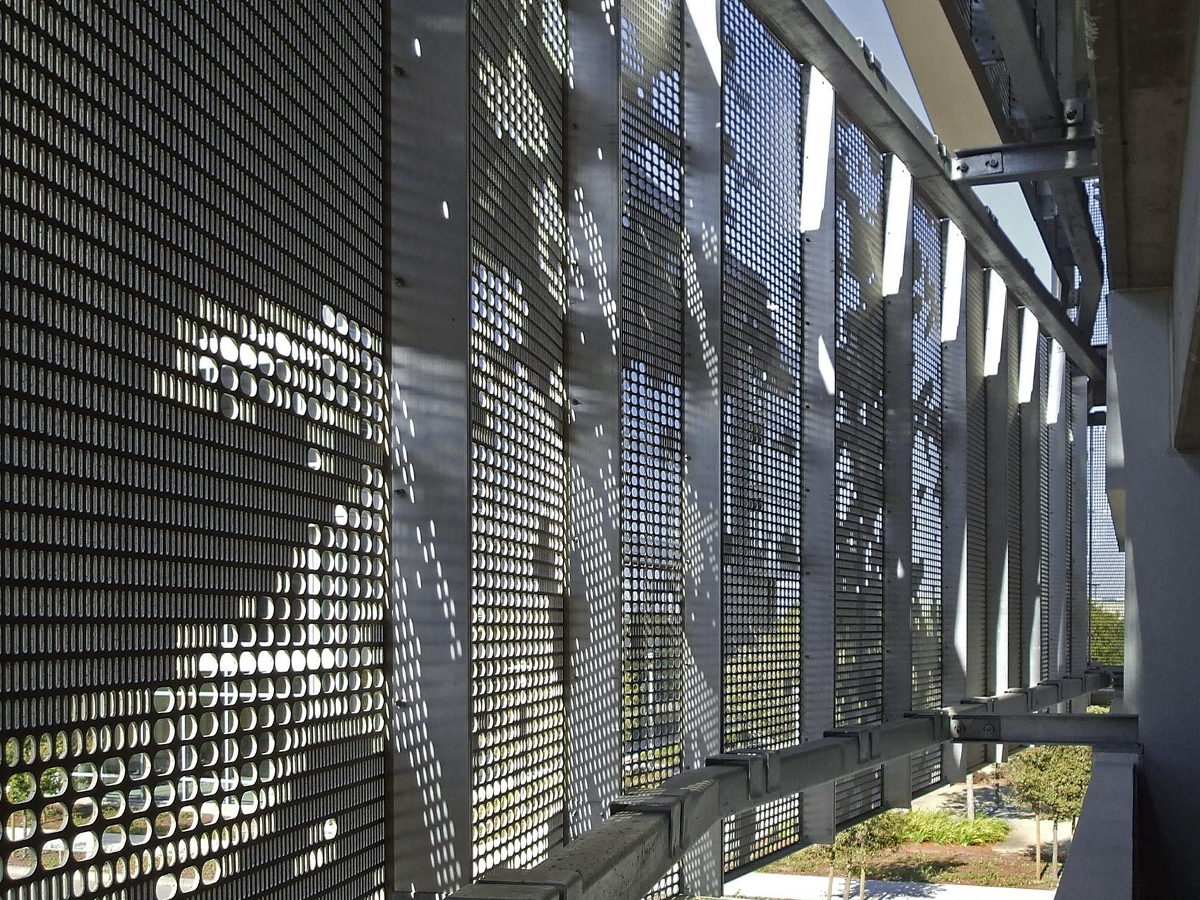 Photo Of Detail Of The Perforated Aluminum Facade System