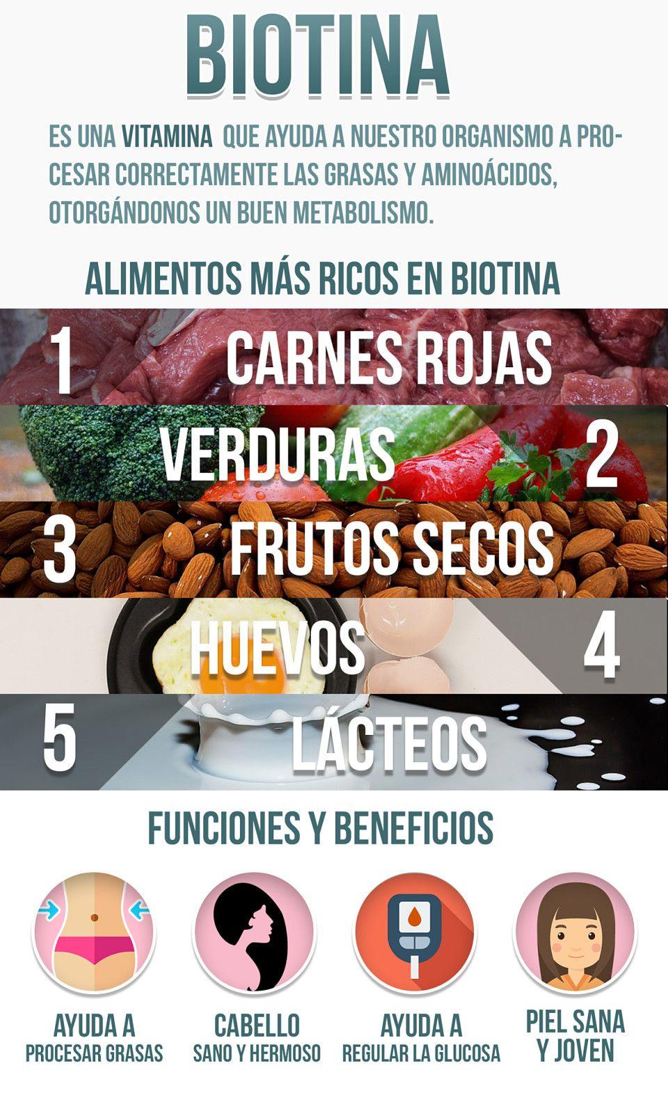 biotina alimentos que la contienen