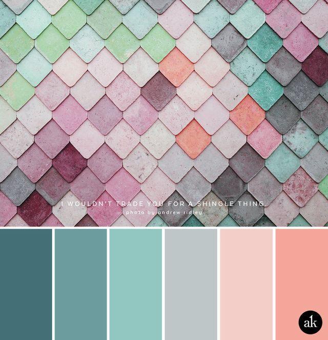 Grau Wandfarbe Farbpalette: A Rainbow-wall-inspired Color Palette (Akula Kreative