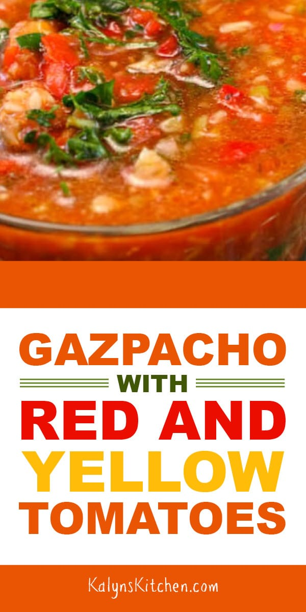 Gazpacho With Red And Yellow Tomatoes And Cooking With Friends
