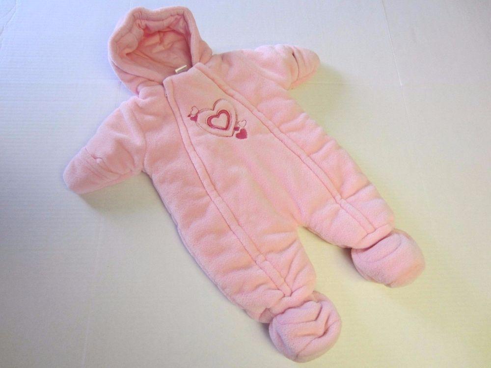 5a74ef9bc Peanut   Ollie Snowsuit 0-3 M Months Pink Coat Bunting Heart ...