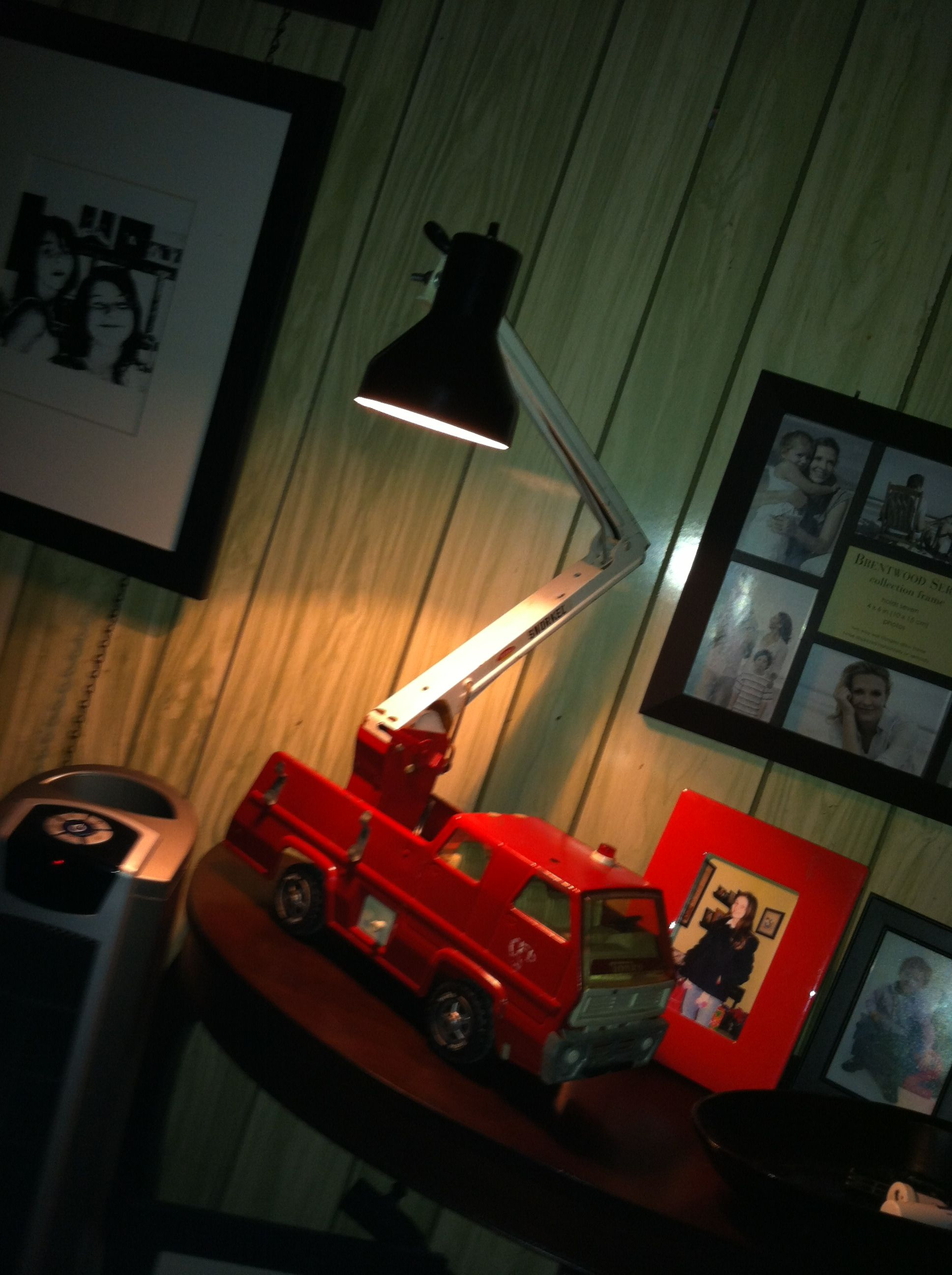 Old tonka truck now a lamp Old