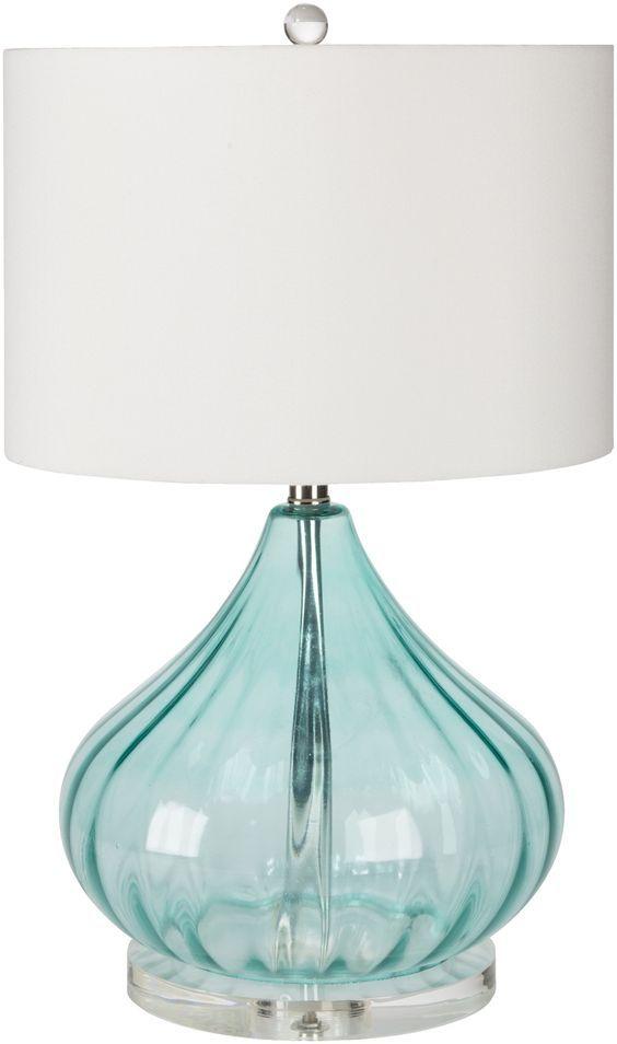 Beau Perfectly Coastal! Atlantis Aqua Glass Beach House Lamp ...