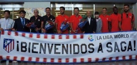 Japón acoge a la expedición del Atlético de Madrid con los brazos abiertos