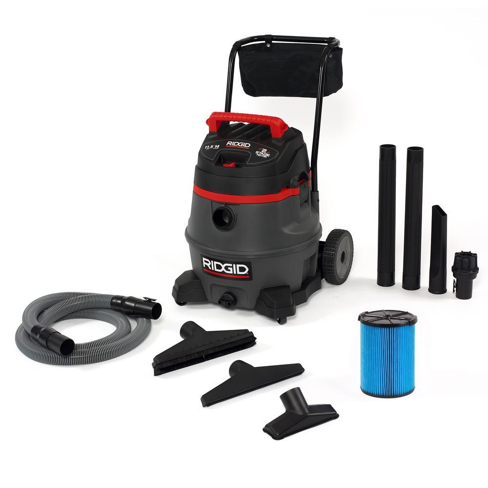 Ridgid 14 Gal 2 Stage Commercial Wet Dry Shop Vacuum With Fine