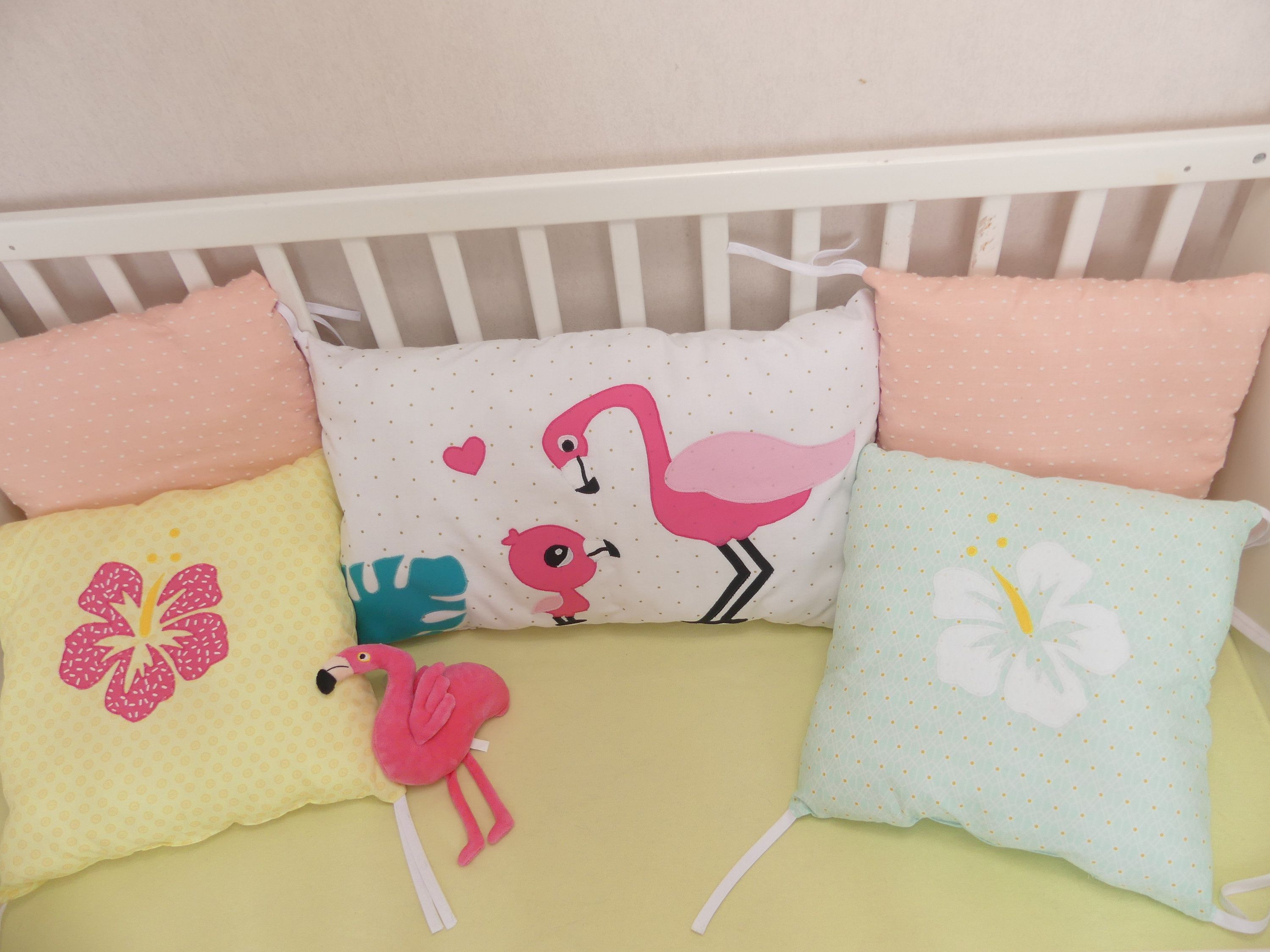 Pink Flamingo Bed Tower For Baby Girl Hibiscus Flowers Heart Pink Flamingo Flamingo Bedding Pink Flamingos Headboards For Beds