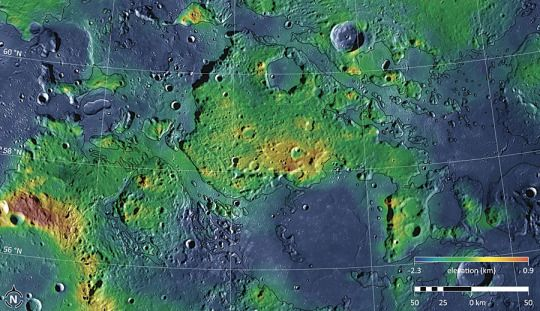 NASA Unveils The FIRST Ever Topographic Map Of Mercury Astronomy - Nasa topographic map