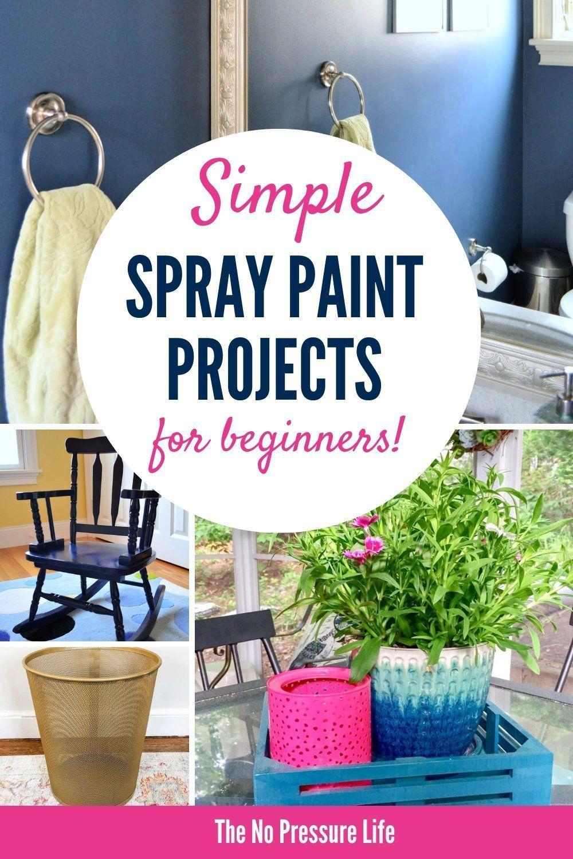 Easy DIY Spray Paint Ideas Even Beginners Can Do #spraypainting