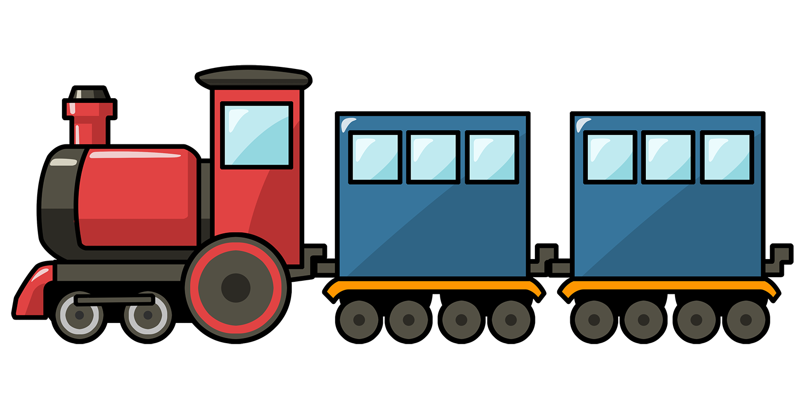 Free Cute Cartoon Train Clip Art