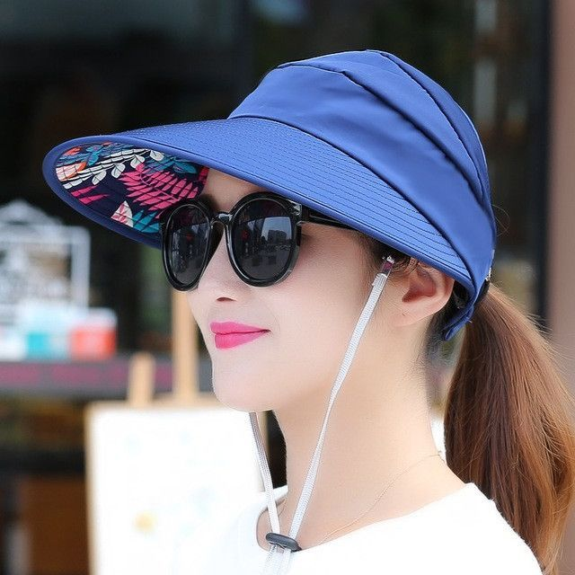 summer Sun Hats sun visor hat Sun Hats for women with big heads beach hat  UV protection 597a2acd2b0