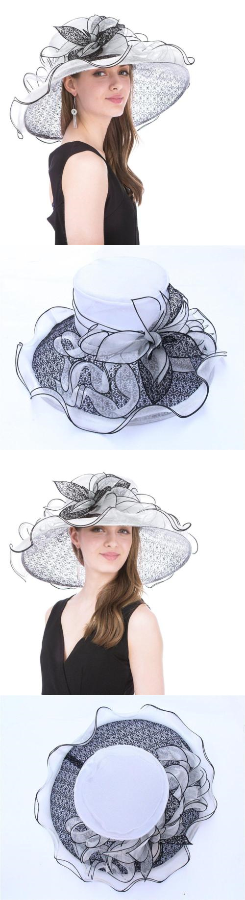 Womens Formal Hats 131476  Saferin Women S Royal Fascinator Organza Church  Kentucky Derby Wedding. fd05b5ecb5f5