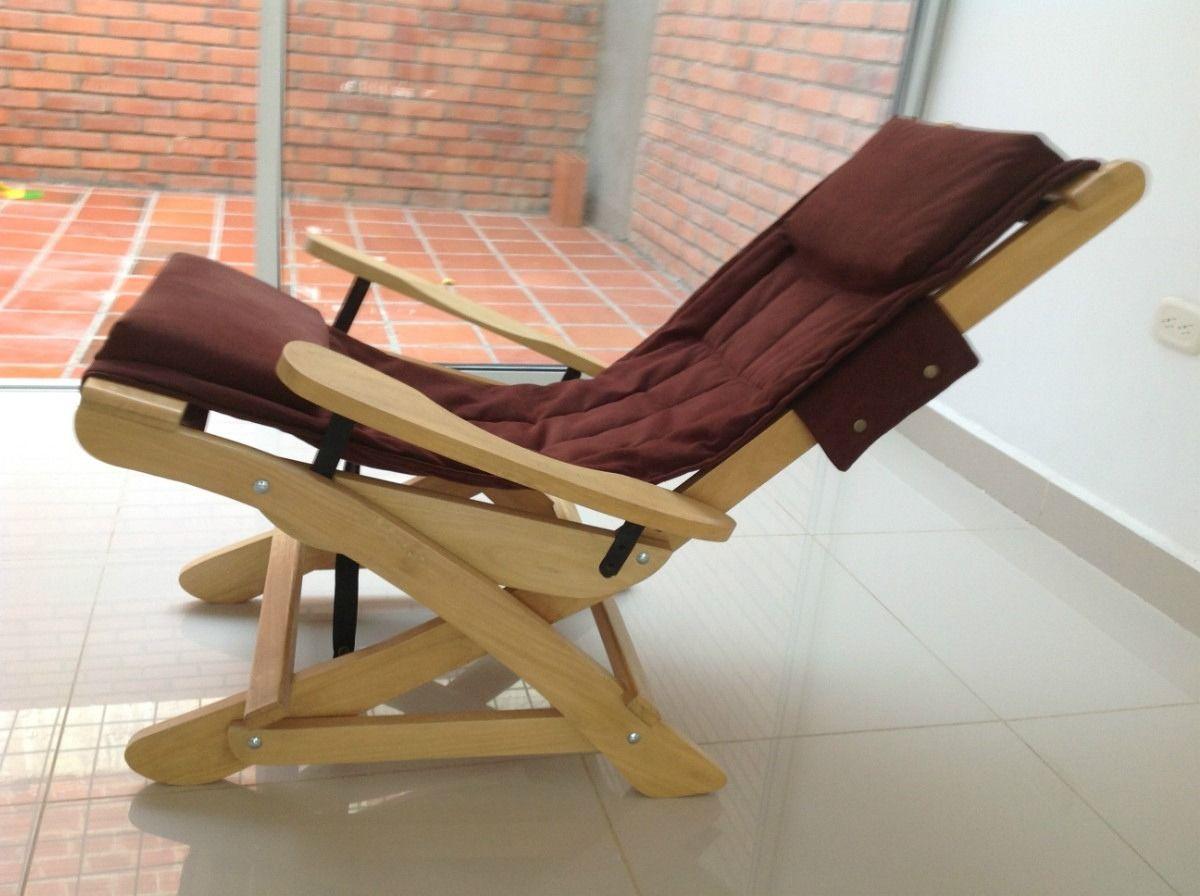 Silla Reclinable Descanso  sillas de descanso en 2019  Sillas Muebles de madera y Sillas plegables de madera
