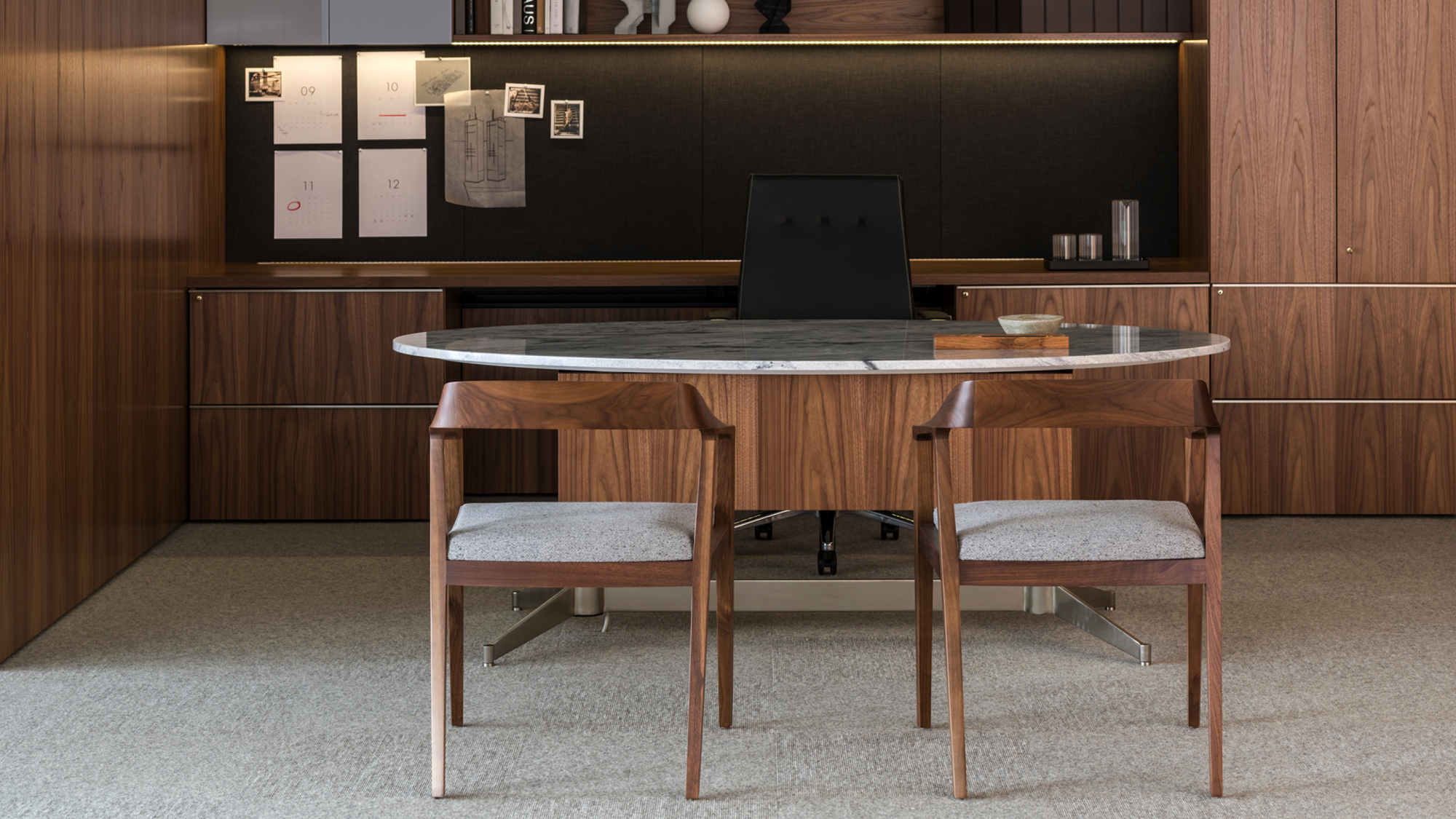 Mp Height Adjustable Executive Table Desk By Geiger Furniture Shown