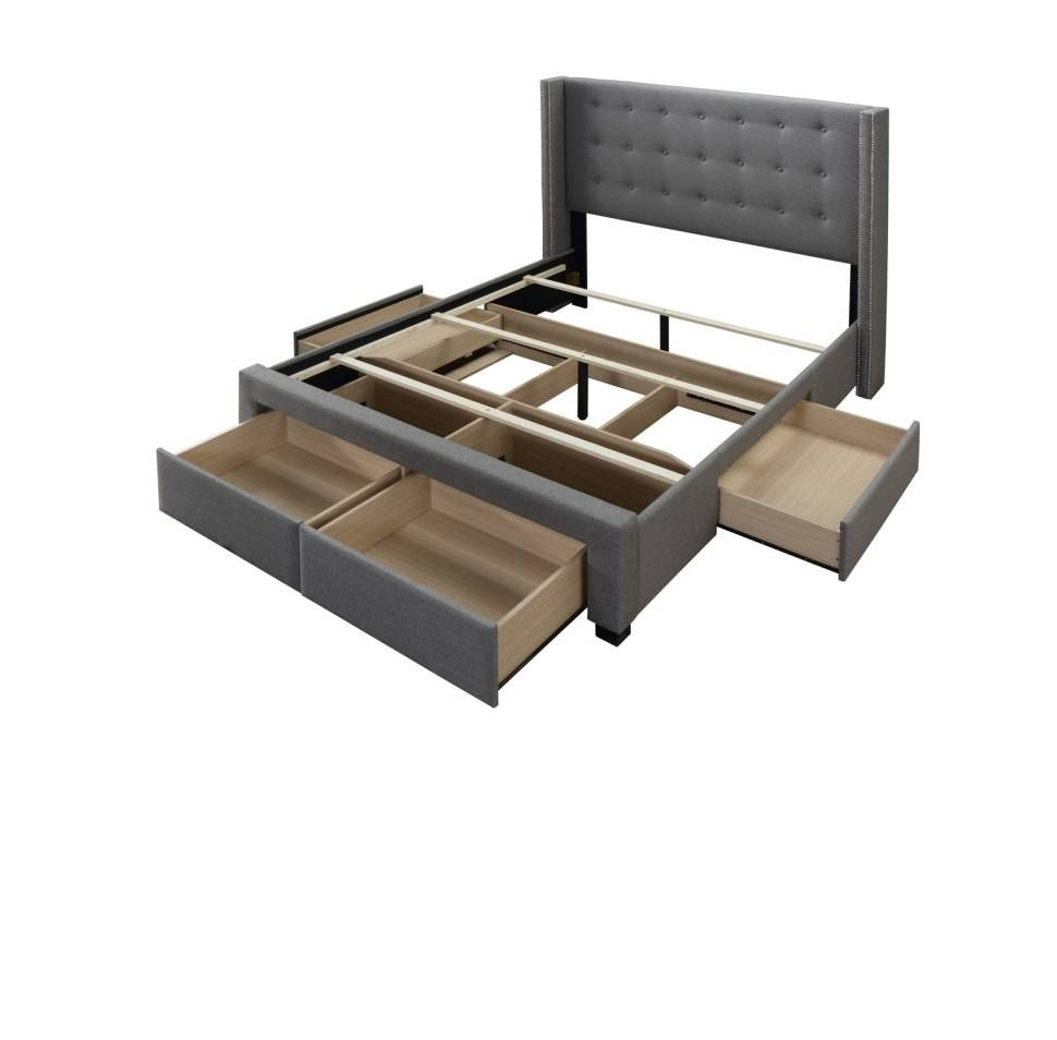 High Quality Construction With Storage Bed Frame With Storage
