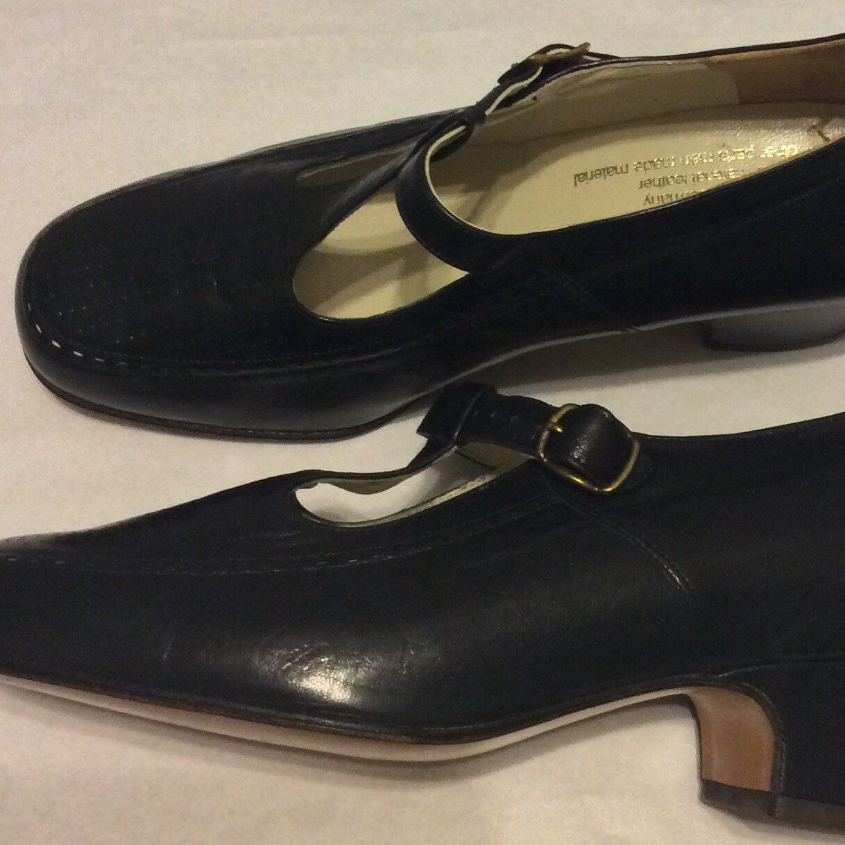 15cbb50c3446 Retro Designer Shoes. Ladies Leather Navy Blue Spiess Germany Mary Jane  Style Shoes. Check my shop out for many great vintage finds!