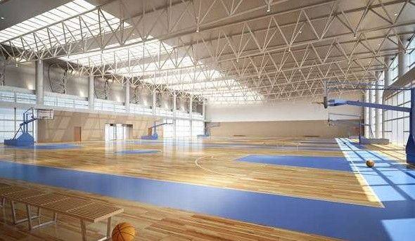 Sports Basketball Hall of modern architecture 3D Model ...