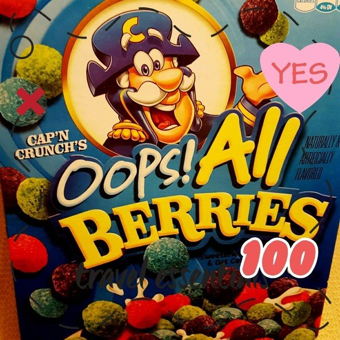 Photo Of Cap N Crunch Oops All Berries Cereal 15 4 Oz Box Uploaded By Spontaneous W Berry Cereal All Berries Influenster Cap'n crunch's crunch berries® take the original crunch you love, and add in bursts of colorful berry flavor. pinterest
