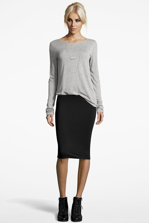 lexi midi jersey tube skirt | tube skirt, boohoo and clothes