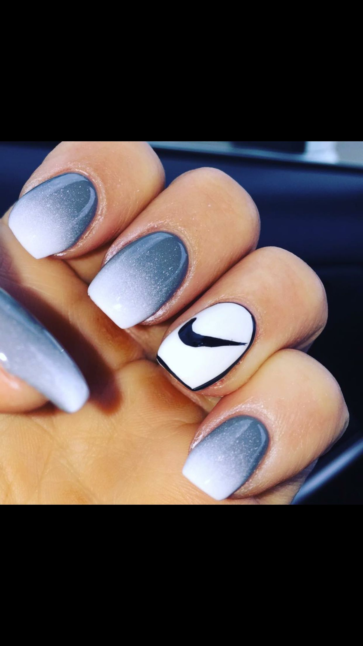 ombre #Nike #nails | Makeup | Pinterest | Nike nails, Ombre and Sns ...