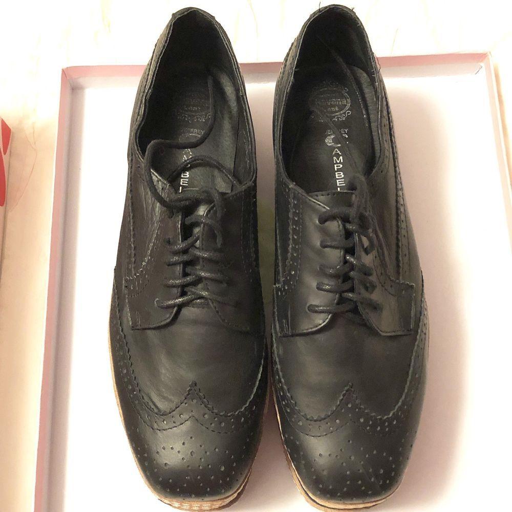 sports shoes 7b4c0 f080b jeffrey campbell AD-MAN Black Combo platform Leather Shoes ...