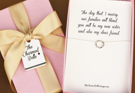 Sister In Law New Sister Wedding Necklace Wedding Gift Shower
