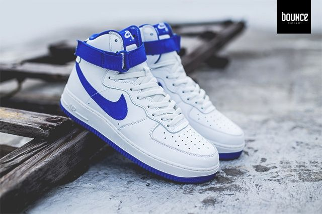 Nike Air Force 1 High  Summit White  Royal Blue