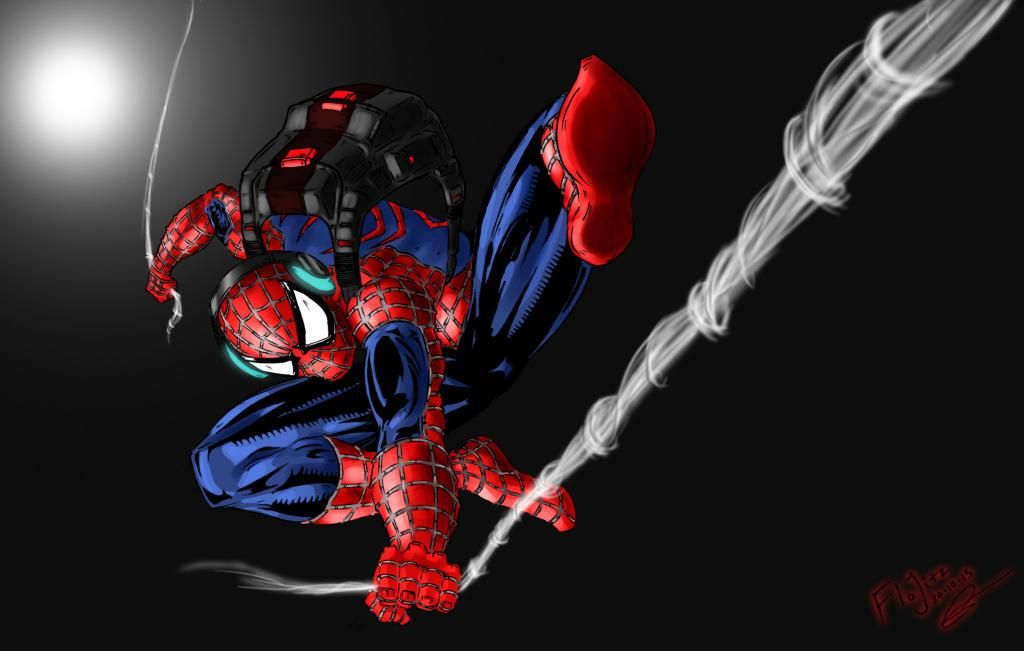 With great 'artistic' power, comes great responsibility. Always trying to push past my limits.  #fanart #spiderman