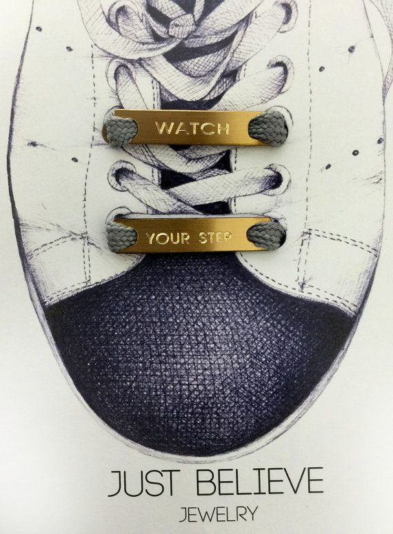940be0044c5e0e Shoe tag - Watch your step - Shoelace Plate Personalized Shoe Charm - 5k  run- 10k run - Marathon Mo in 2019