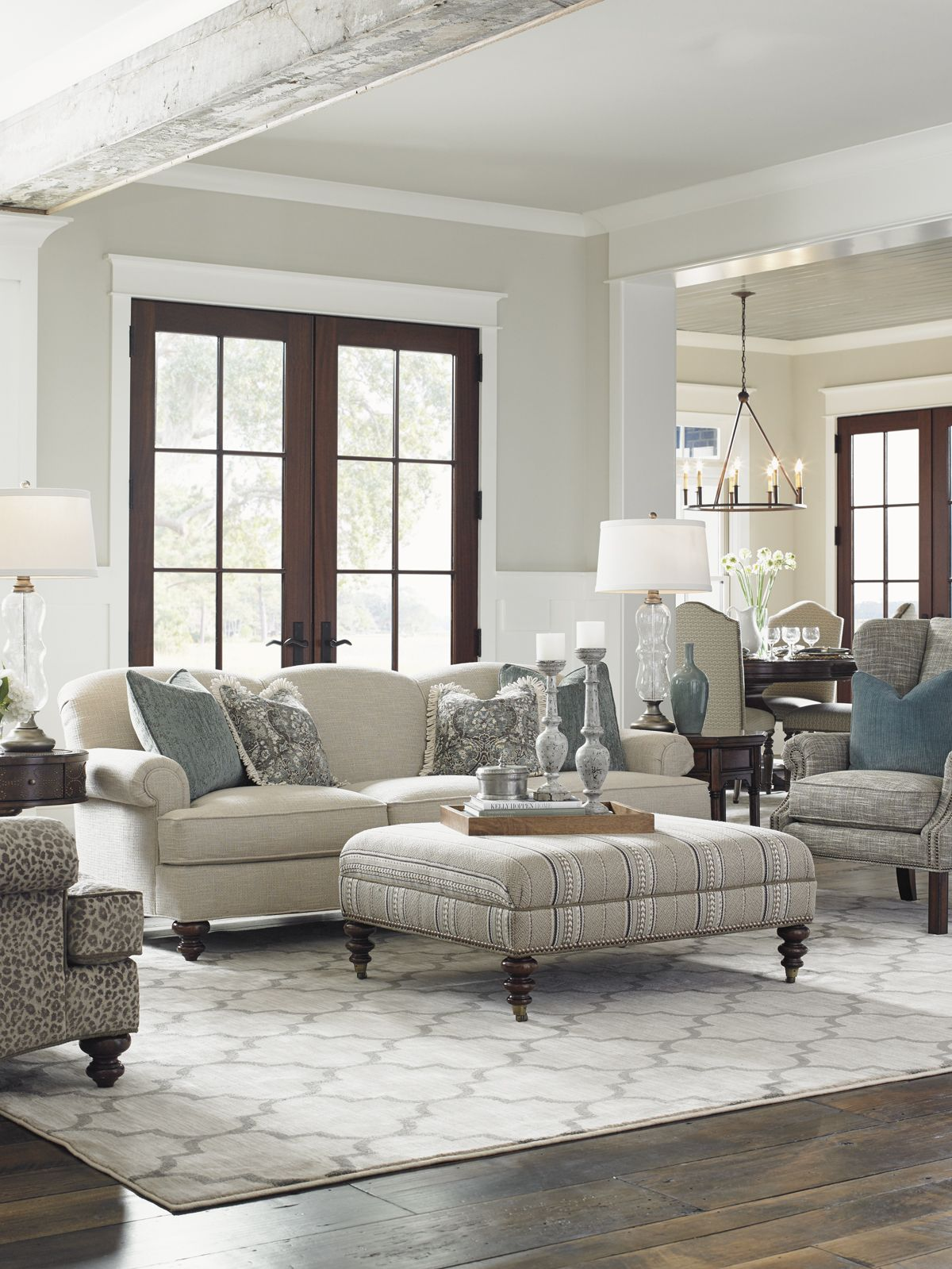 Coventry Hills Cooper Cocktail Ottoman   Lexington Home Brands