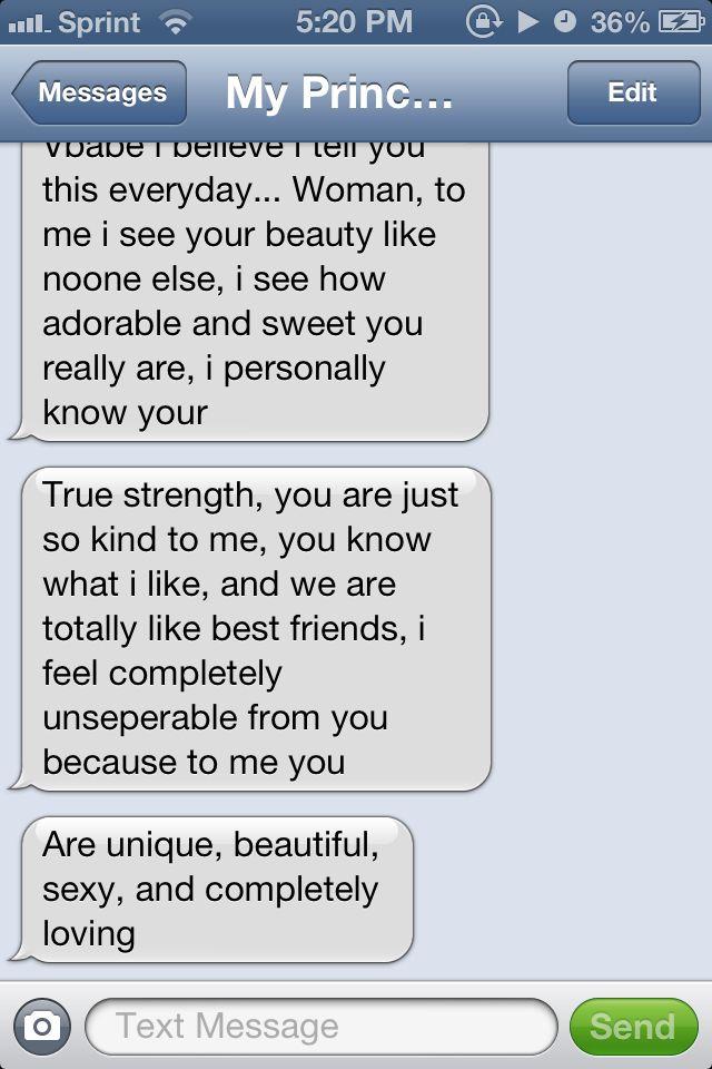 A cute text from him  | Things I love | Cute texts, Cute
