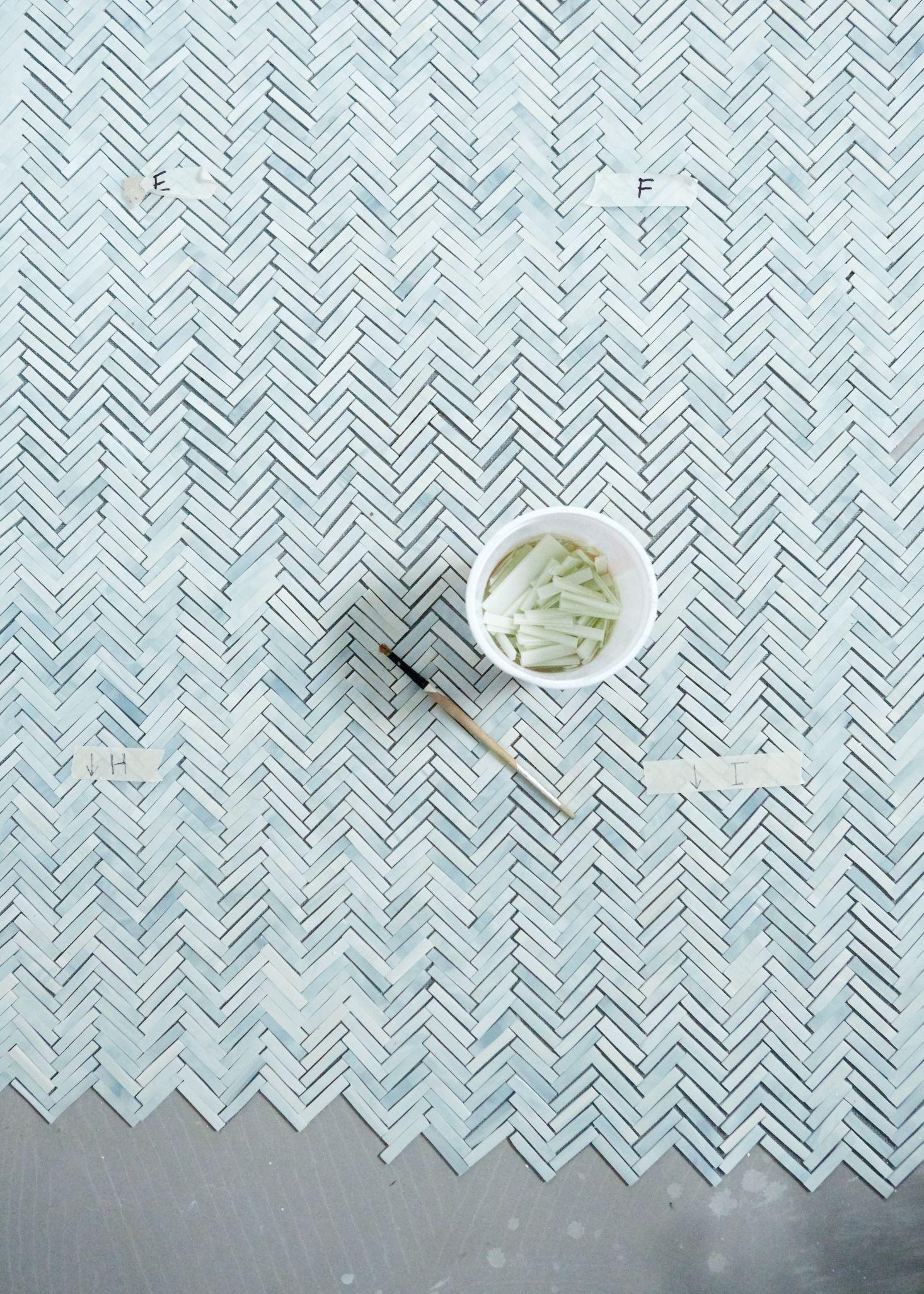 Bathroom of the Week: An Artist-Made Mosaic Tile Floor, Start to ...