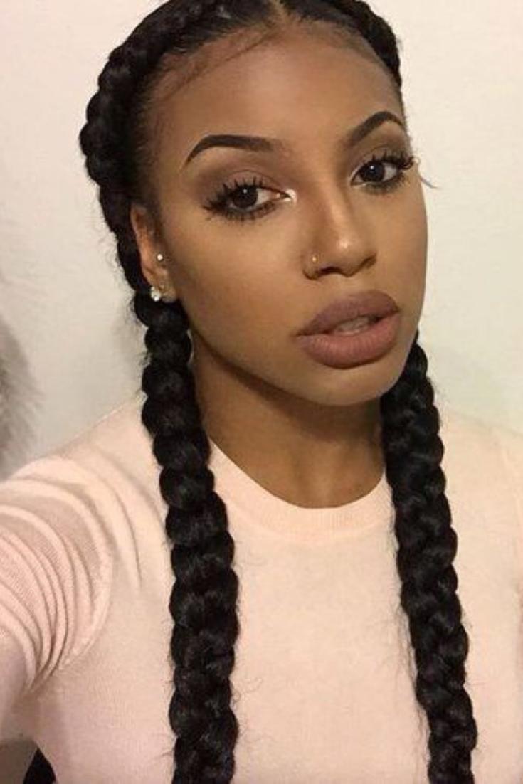 60 Beautiful Black Women Hairstyles Braided Hairstyles Two Braid Hairstyles Natural Hair Styles