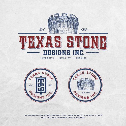 Texas Stone Designs, Inc. - Stone veneer manufacturer needs unique new logo with a Castle