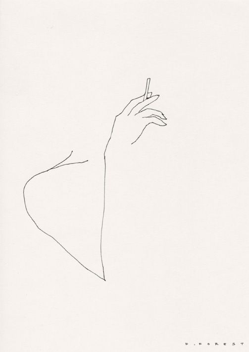 Photo of Woman smoking / A classic line art drawn by Frederic Forest, a French artist bas…