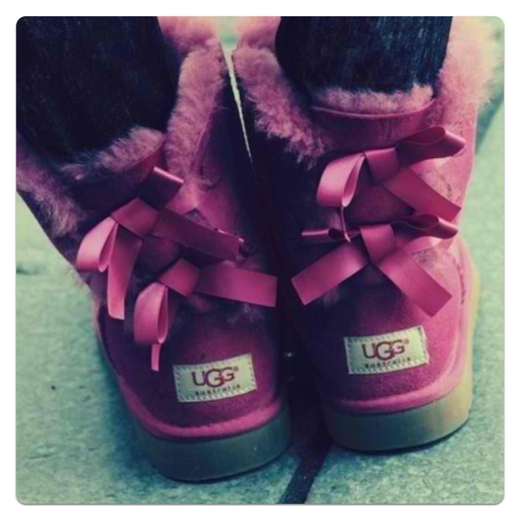 burgundy uggs with bows
