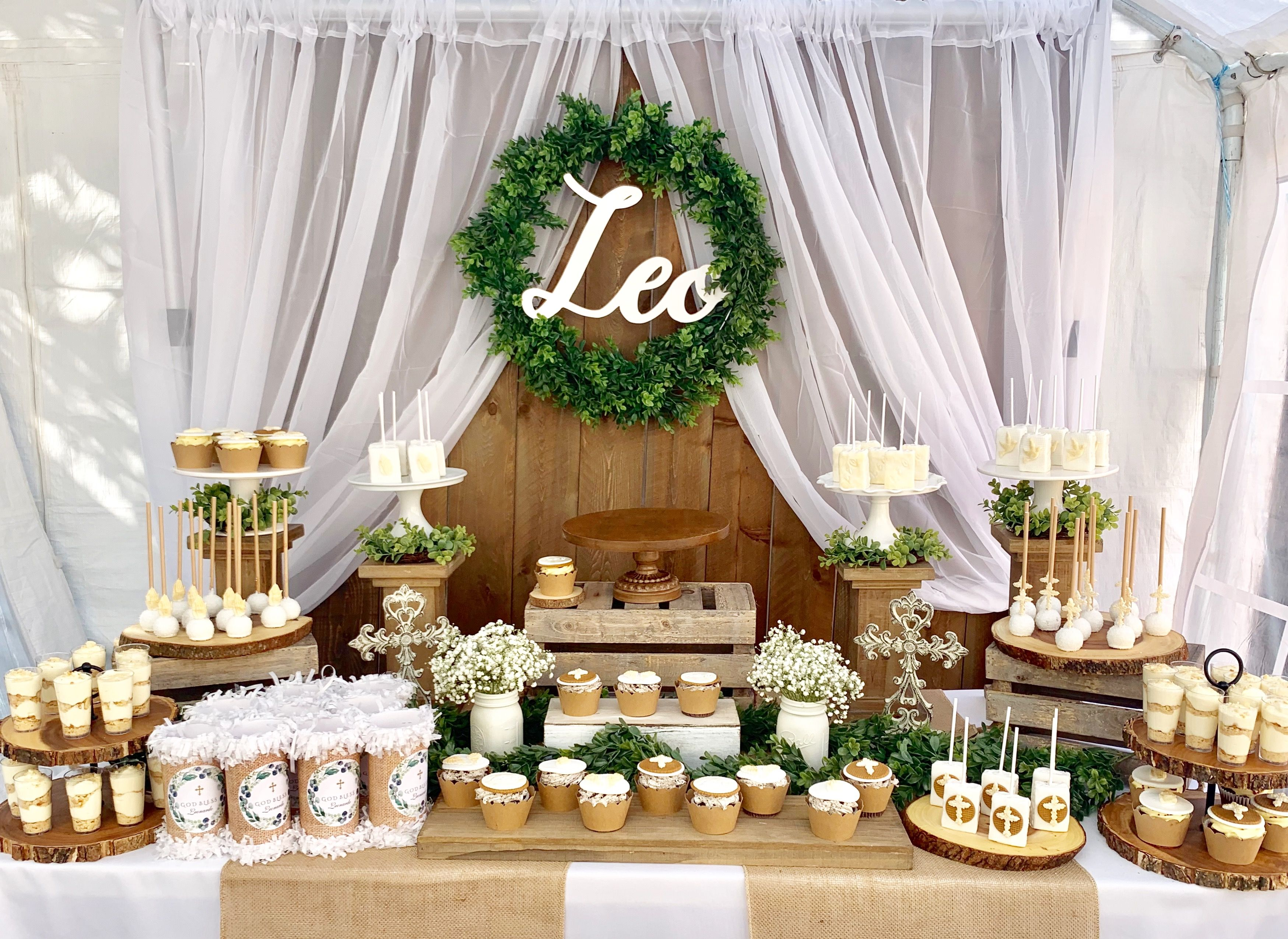 Event Styling Event Stylist Birthday Party Decor Birthday Party Ideas Bay Area Baptism Party Decorations Baby Shower Dessert Table Rustic Birthday Parties