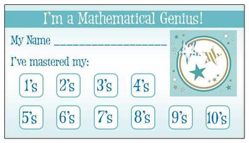 Math Fact Punch Card   Because I\'m a Teacher   Pinterest   Math ...