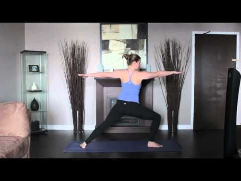 hatha yoga  warrior two right pose  learn yoga poses