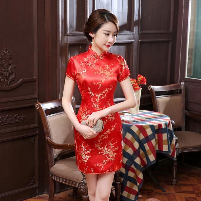 447896b645d48 Women's Cheongsams Silk Satin Qipao Chinese Sexy Dress $40 ...