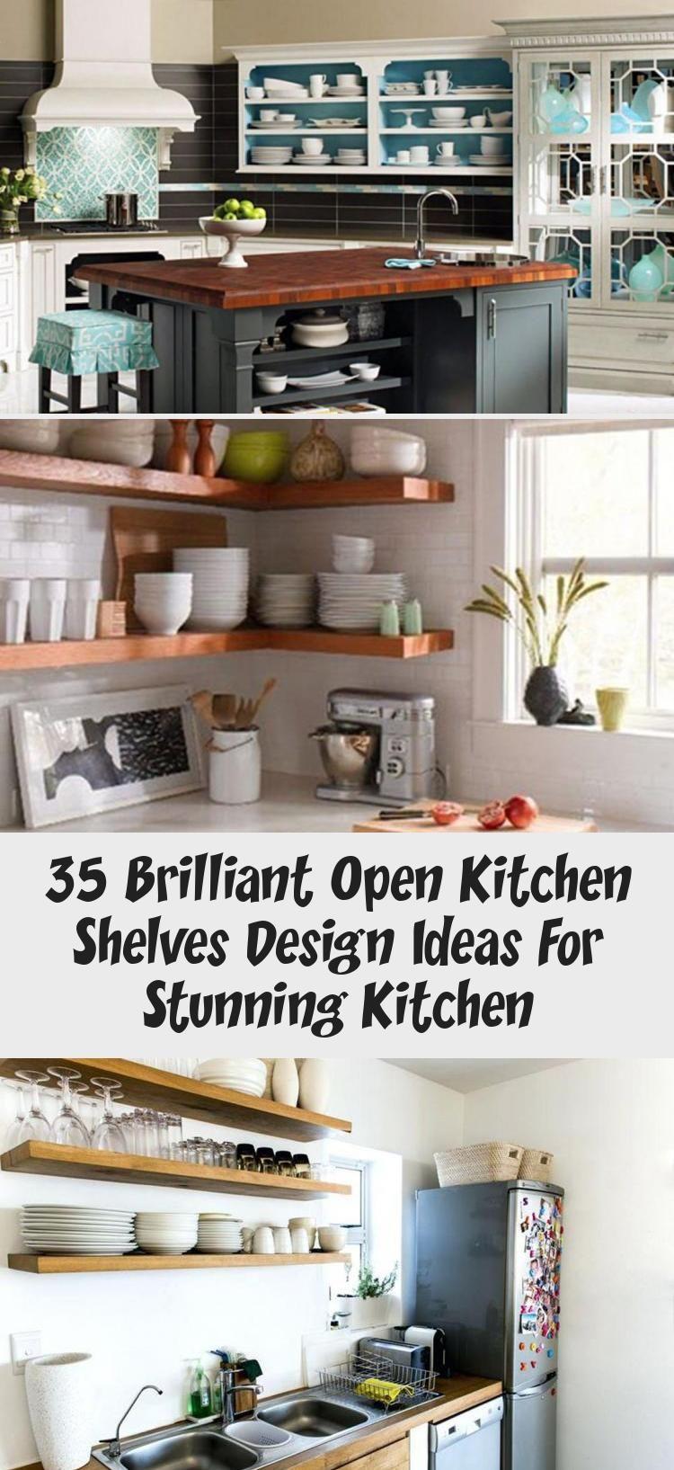 35 Brilliant Open Kitchen Shelves