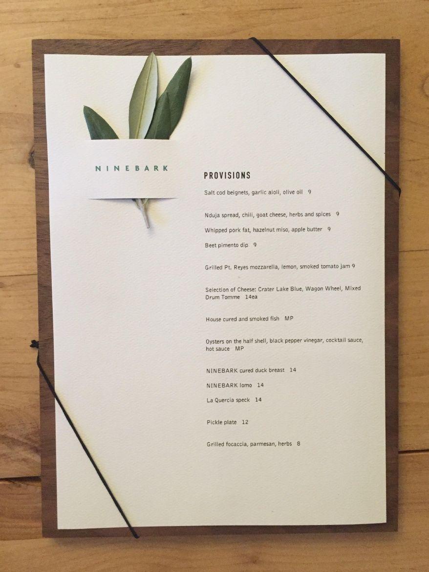 01f1c4cceb13 NINEBARK menu - Google Search Resturant Menu, Restaurant Poster, Restaurant  Branding, Carta Restaurant