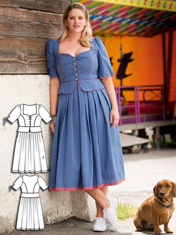 Plus Size Dirndls: 10 New Women\'s Plus Size Sewing Patterns | Dirndl