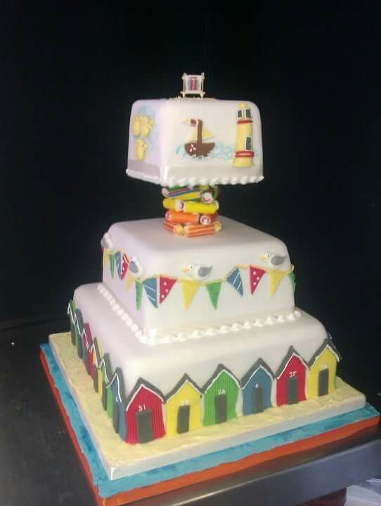 Whitby Seaside Wedding Cake