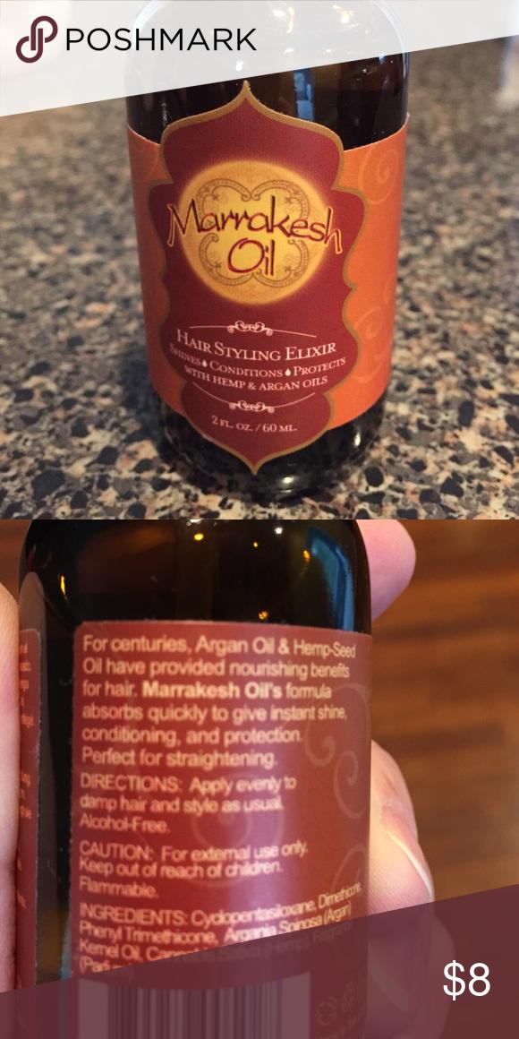 Marrakesh Oil Hair Styling Elixir With Hemp Argan Oils Used Once Earthly Body Other Damp Hair Styles Hair Oil Oils