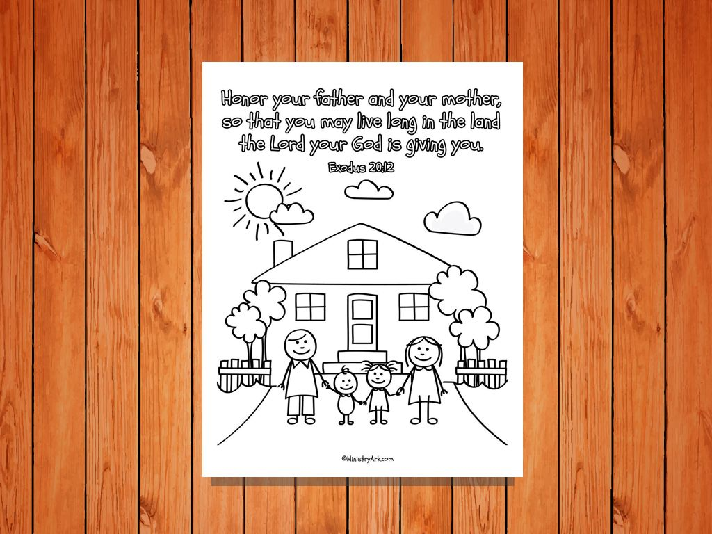 Honor Your Father And Mother Printable Exodus 20 12 You Are