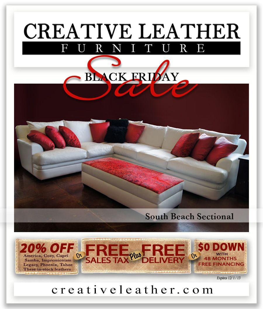 Astonishing South Beach Sectional Creativeleather Com Black Friday Ibusinesslaw Wood Chair Design Ideas Ibusinesslaworg