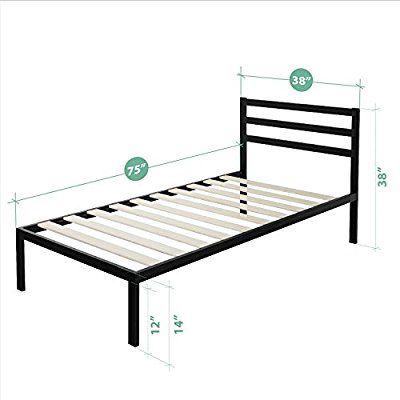 Amazon.com: Zinus Modern Studio 14 Inch Platform 1500H Metal Bed ...