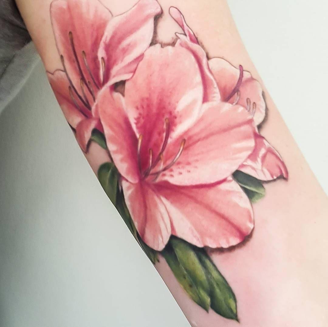 Perfect Azalea Tattoo At Tattooed Warrior Tattoo Studio Tattoos Sleeve Tattoos Pretty Tattoos