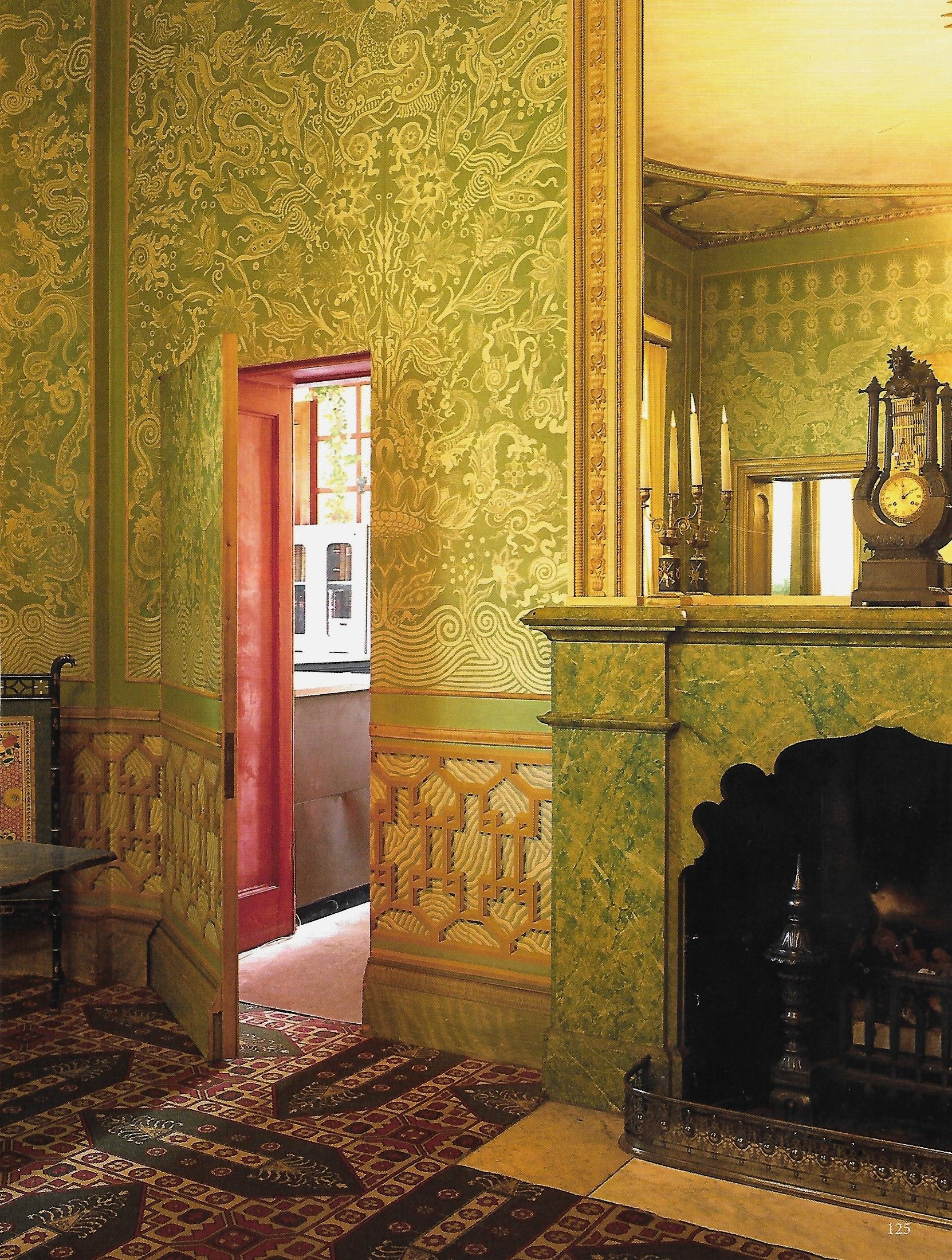 Jib door in King's Bedroom, Brighton Pavilion in 2019